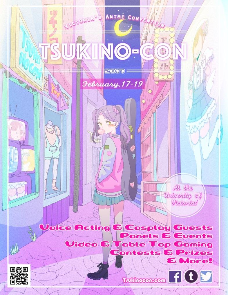 tsukino con poster